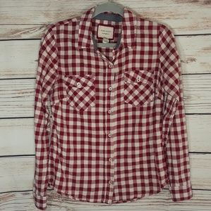 Forever 21 checkered long sleeves top
